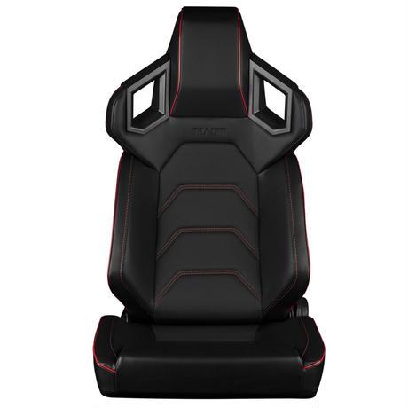 2脚【Braum Racing Alpha-X セミバケ レッドステッチ Lowサイドサポート】