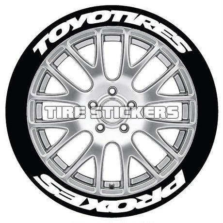 8枚【Toyo Tires PROXES 太文字 タイヤステッカーセット】