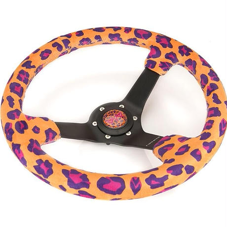 【NRG Savage ステアリングホイール Orange Cheetah】