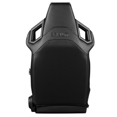 2脚【Braum Racing Alpha-X セミバケ ブラック&ブラックステッチ】