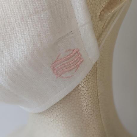 【数量限定】今治産タオル製オリジナルマスク(ピンク刺繍)