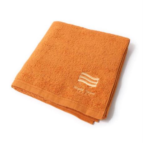 「ふわふわのスポーツタオル/バスタオルサイズ」(オレンジ)