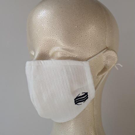 【数量限定】今治産タオル製オリジナルマスク(ネイビー刺繍)