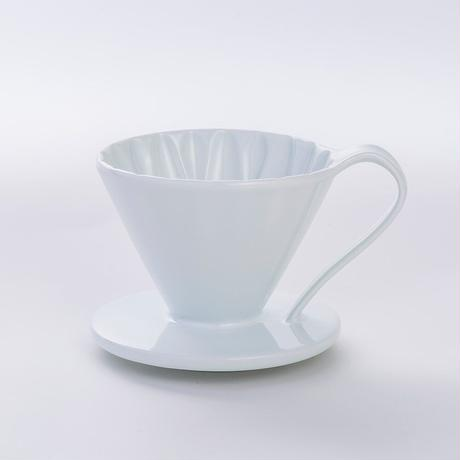円すいフラワードリッパー陶器製(ホワイト)   Cup1〈1~2杯用〉白色メジャースプーン付き