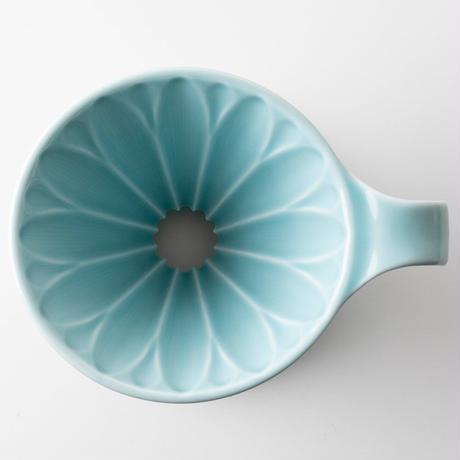 円すいフラワードリッパー陶器製(ブルー) Cup4〈2~4杯用〉青色メジャースプーン付き
