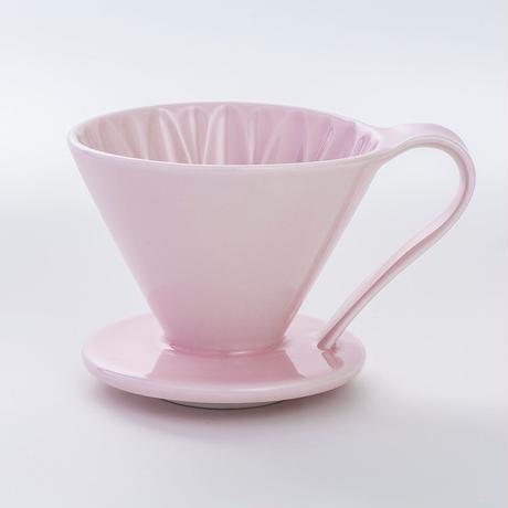 円すいフラワードリッパー陶器製(ピンク) Cup4〈2~4杯用〉桃色メジャースプーン付き