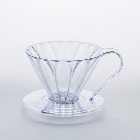 円すいフラワードリッパー樹脂製  Cup1〈1~2杯用〉白色メジャースプーン付き