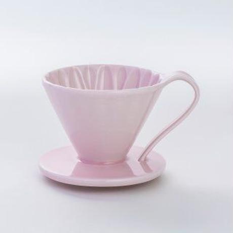 円すいフラワードリッパー陶器製(ピンク)   Cup1〈1~2杯用〉桃色メジャースプーン付き