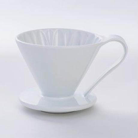 円すいフラワードリッパー陶器製(ホワイト) Cup4〈2~4杯用〉白色メジャースプーン付き