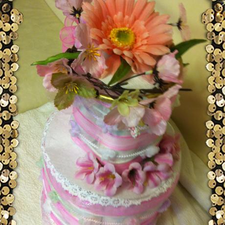 【オーダーメイド】おむつケーキ二段