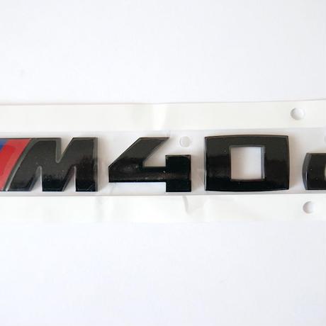 BMW純正 G01 X3 M40d ブラック モデルレター エンブレム Black Painting Letterings.