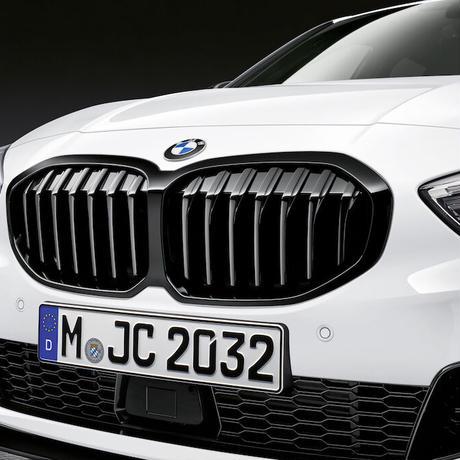 BMW純正部品 M PERFORMANCE F40 1シリーズ用ブラックキドニーグリル  バータイプ