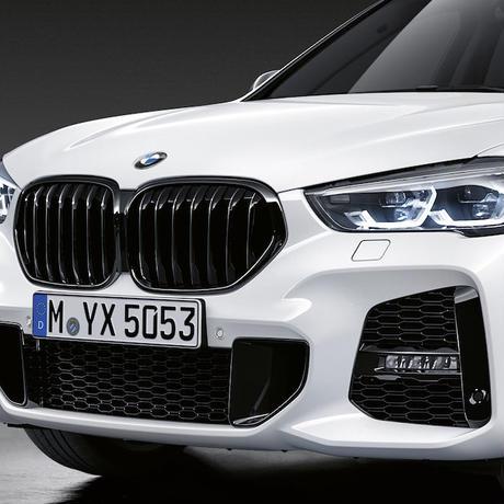 BMW純正部品 M PERFORMANCE F48 LCI X1 用ブラックキドニー グリル