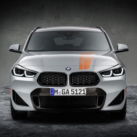 BMW純正 F39 X2 EDITION M MESHモデル用ハイグロスブラック メッシュグリル