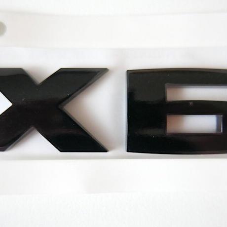 BMW純正 G06 X6 ブラック モデルレター エンブレム Black Painting Letterings.