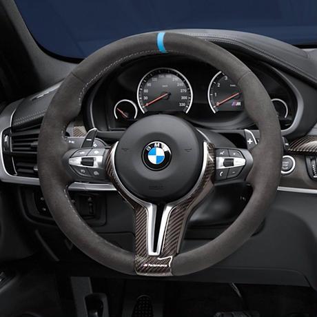 BMW 純正部品 F85 X5M F86 X6M 用 M PERFORMANCE アルカンタラ ステアリングホイール カーボントリム セット F15 X5 F16 X6
