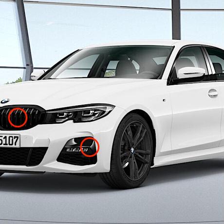 BMW純正部品G20 G21 3シリーズ用Individualハイグロスシャドーラインパーツセット M340用