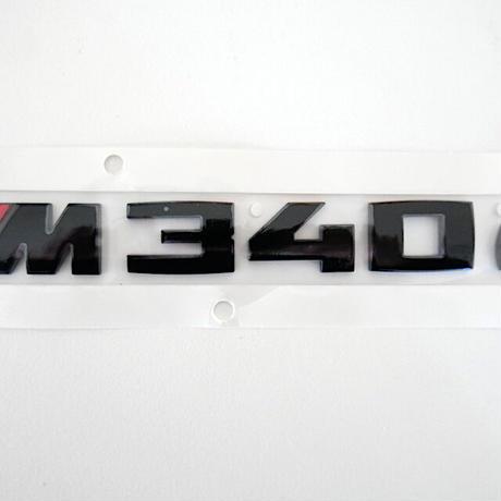 BMW純正 G20 G21 3シリーズ M340d用ブラック モデルレター エンブレム Black Painting Letterings.