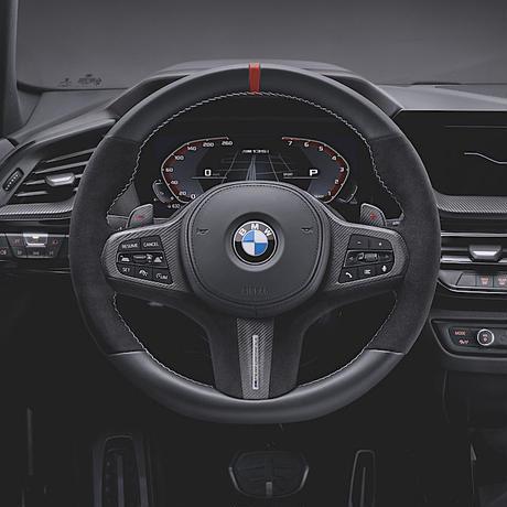 BMW M Performance レザー・アルカンタラ ステアリングホイール F40 1シリーズ G29 Z4シリーズ F44 2シリーズグランクーペ パドルシフト装着車用