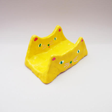 ONLY 1 ! YELLOW CAT ⟡ CARD HOLDER