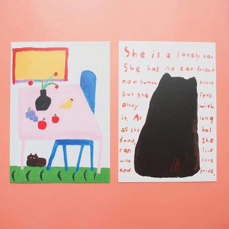 CAT CAT CAT CAT Postcard Set / 猫がいれば大丈夫・ハガキ4枚セット