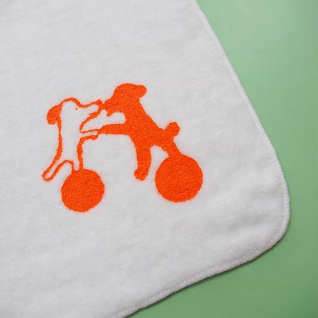 Dancing Dogs / Silk-screen Towel & Handkerchief
