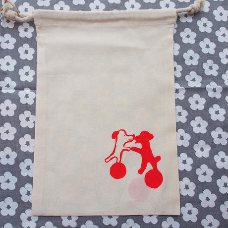 Dancing Dogs / Silkscreen Small Pouch