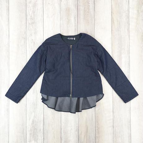 #インナージャケットにもなる軽量キルトデニムジャケット 品番:1137803 カラー:ナイト