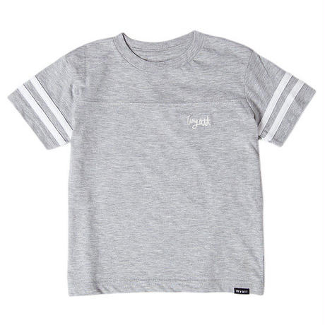 【 WYATT / ワイアット 】KIDS SCLIPT LOGO FOOT BALL TEE