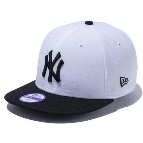 【 NEW ERA KID'S/ ニューエラ キッズ 】9FIFTY ニューヨーク・ヤンキース /ホワイト×ブラック ブラックバイザー