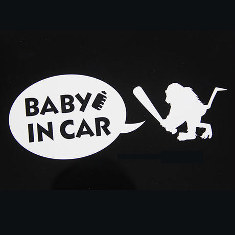 "【 Santastic! Kid's / サンタスティック キッズ 】Cutting Sticker ""BABY IN CAR"""