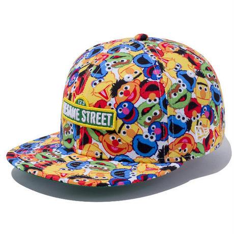 【 NEW ERA KID'S/ ニューエラ キッズ 】9FIFTY Sesame Street Allover  / キャラクタープリント