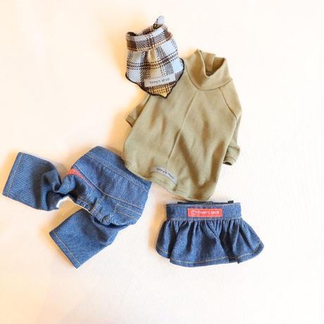 バンダナ付きCenter Cross Knit(Khaki)