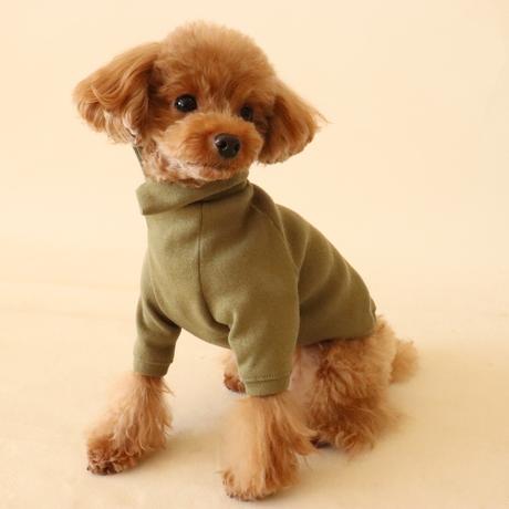 Cross neck knit(カーキ)