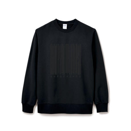 【Square】Thanks Barcode Crew  neck  ブラック×ブラック