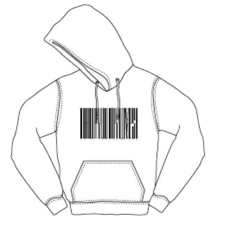【Spring】Thanks Barcode Hoodie