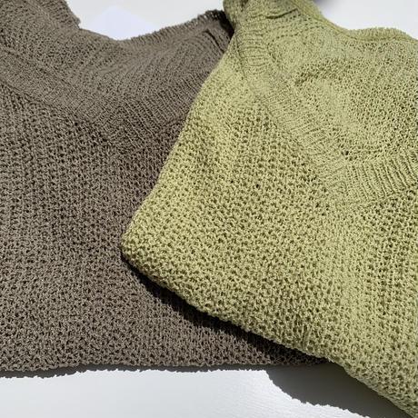 summer knit v neck