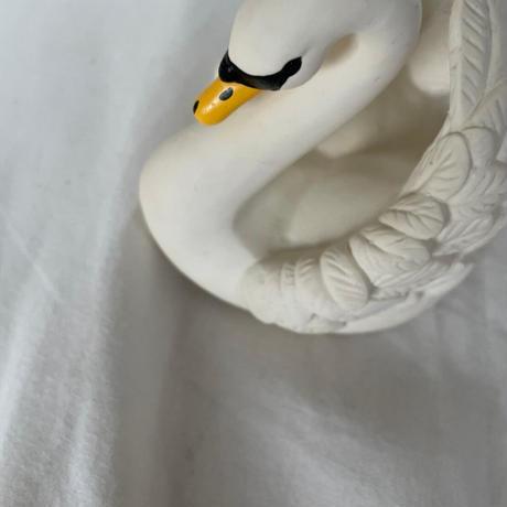 natural bath toy swan