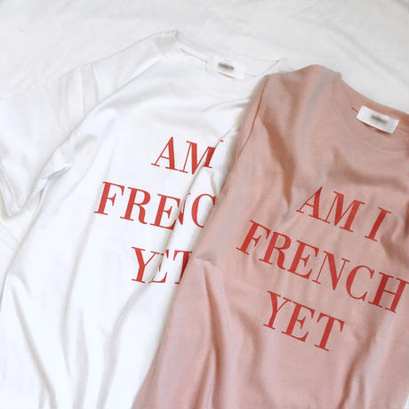 【即納】FRENCH tee(pink / white)