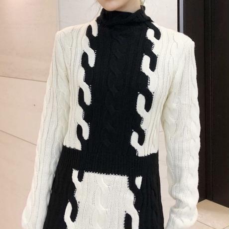 mono pattern knit ops