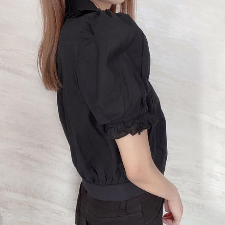 cropped frill collar BL / 2color