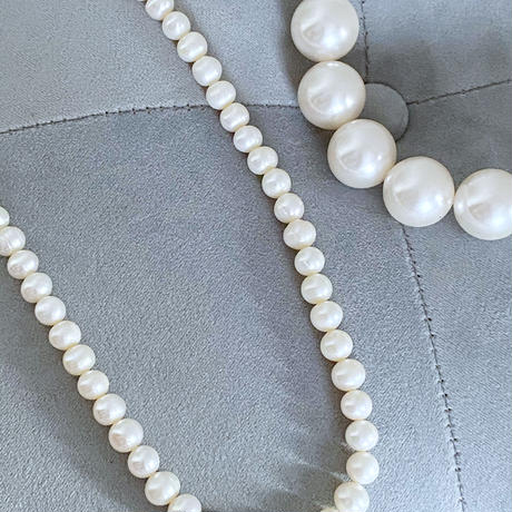 PEARL necklace(20mm / アクリルパール)