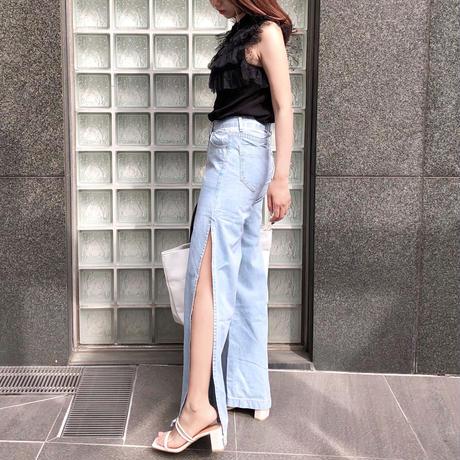 【予約】big slit wide jeans