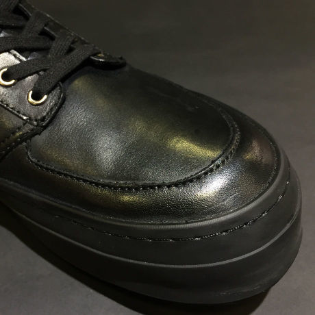 XROSS TRIBAL LEATHER SNEAKER/BLK