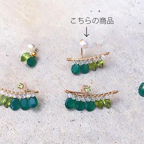 Green bijou Mイヤリング 片耳売り ( Single )