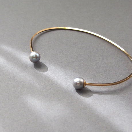 2dot Bangle■Grey Pearl