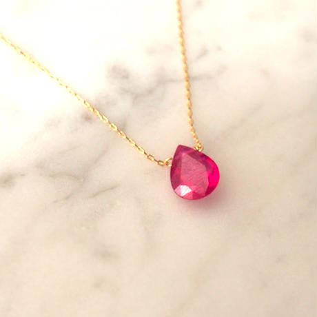 SALE◆18金■RUBY Necklace
