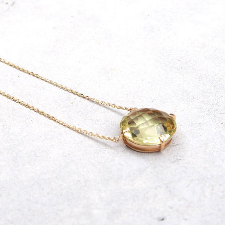 Sunネックレス Lemon quartz