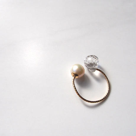 C Ring(K10×pearl×Quartz)