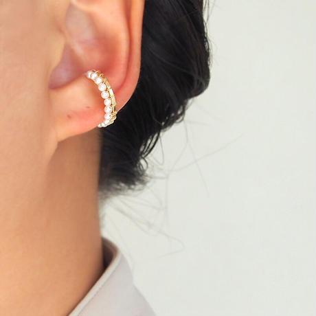 line pearl イヤカフ_silver